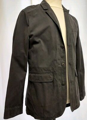 Men's EXPRESS LARGE Faded  Blue Style Casual Cotton Blazer Jacket Retail $98 B5
