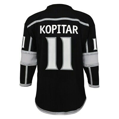 2c049965b87 ANZE KOPITAR YOUTH Los Angeles Kings NHL Reebok Black Replica Jersey ...