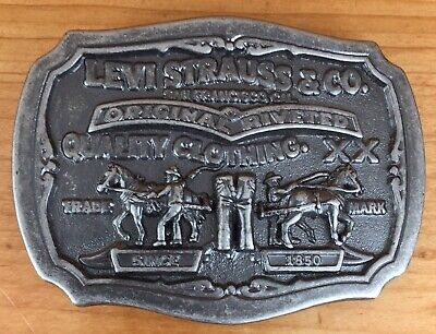 Vintage Levi Strauss Two Horse Brand Limited Edition Belt Buckle