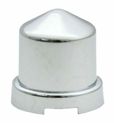 """nut covers(10) 7/16"""" & 12mm round pointed chrome plastic 3/4"""" tall for Peterbilt"""
