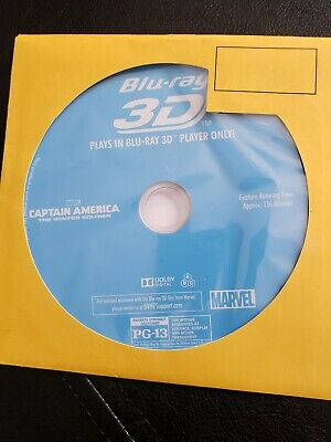 Captain America The Winter Soldier / 3D Blu-Ray Disc Only! / No Case, Marvel MCU