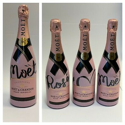 1x Moet Chandon Imperial Rose Living Ties Champagner Flasche 0,75l 12% Vol.