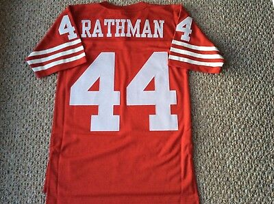 Tom Rathman San Francisco 49ers Small Mitchell And Ness Throwback Sewn  Jersey aee05d46c