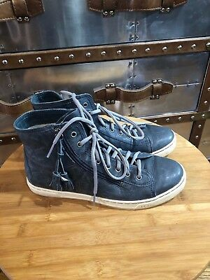 4e7a07762ba UGG AUSTRALIA BLANEY Chocolate High Top Lace Up Tassel Sneakers ...