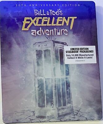 Bill And Ted's Excellent Adventure Steelbook Shout Factory (Blu-Ray, 2018) NEW