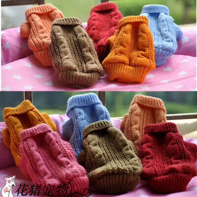 Knitted dog puppy jumper coat sweater for chihuahua micro yorkie Size XXXXS -XXS