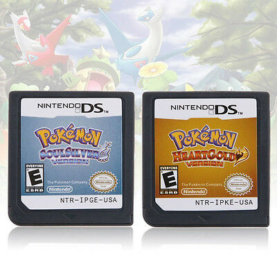 Pokemon Game Card SoulSilver/HeartGold Version for-Nintendo DS NDSL NSDI NDSLL/T
