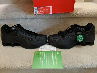 c597eb7b nike shox R4 mens size 10 triple black. STOCKX authenticated. New in Box