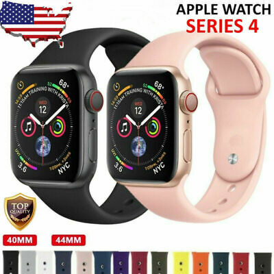 Fr Apple Watch Band Strap Bracelet 38mm 42mm 40mm 44mm Sport Silicone Watch Band