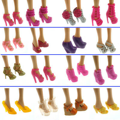 Lot 20 Pcs Brand New Beautiful Barbie Doll Shoes Xmas Birthday Gift for Kids
