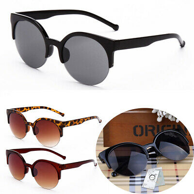 Fashion Women Cycling Sunglasses UV400 Outdoor Semi Rimless Cat Eye Eyeglasses