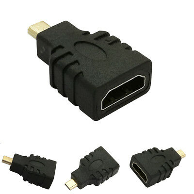 NEW Micro HDMI Male to HDMI Female Adapter Connector For Tablet PC TV HDTV DVs
