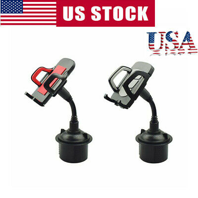 Universal Car Mount Adjustable Cup Holder Stand Cradle For Cell Phone Mobile US