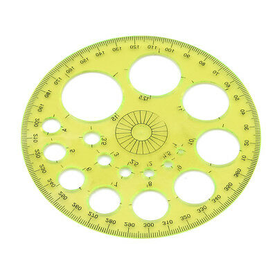 360 Degree Circular Plastic Protractor Ruler Template Measure Tool jian
