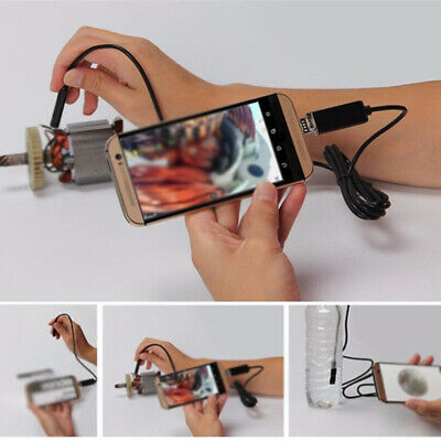 2M Car Endoscope 7mm Endoscope HD USB Android 6 LED Inspection Borescope Camera