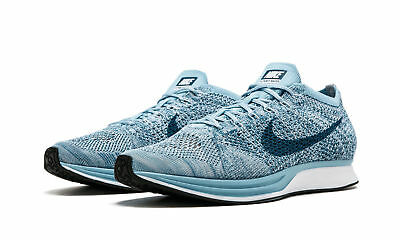 fb621dc89f61 Nike Flyknit Racer Mens Size 10.5 Running Shoes Blueberry White Legion Mica  Blue