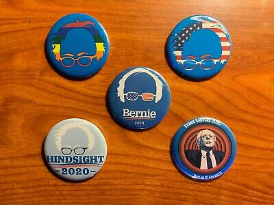 Bernie Sanders 2020 Presidential Campaign Buttons - Lot of 5 - 2.25 inch