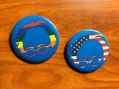 Bernie Sanders 2020 Presidential Campaign Buttons  Lot of 2-2.25 inch