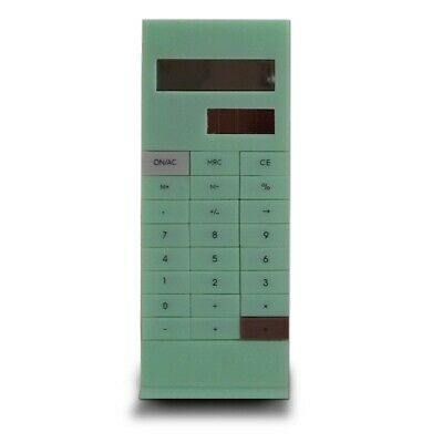 Calculatrice de poche avec pince à documents vert