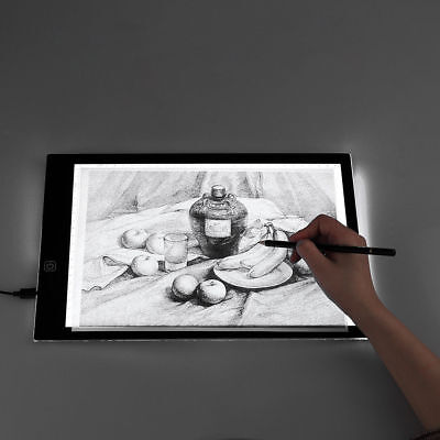 A3 A4 LED Ultra Slim Art Craft Copy Tattoo Drawing Tracing Light Box Pad Board