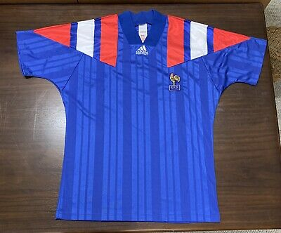 6246595434e Vintage France National Team Soccer/football Shirt, 1992-94 Home, Adidas
