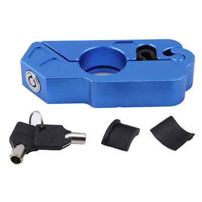 Blue Motorcycle Handlebar Lock Scooter Theft Protect ATV Brake Clutch Security