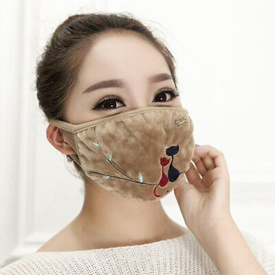 Winter Warm Mouth Mask Cartoon Cat Face Cover Anti-Dust Mouth Mask jian