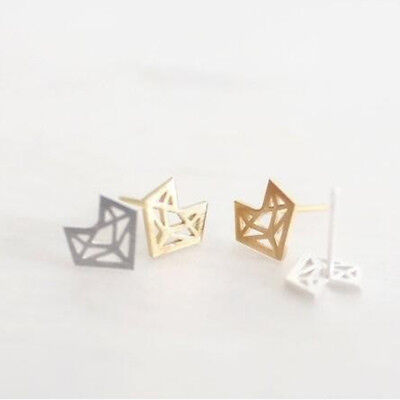 Women Fashion Ear Stud Abstract Little Fox Head Face Animal Earrings Gift Jian