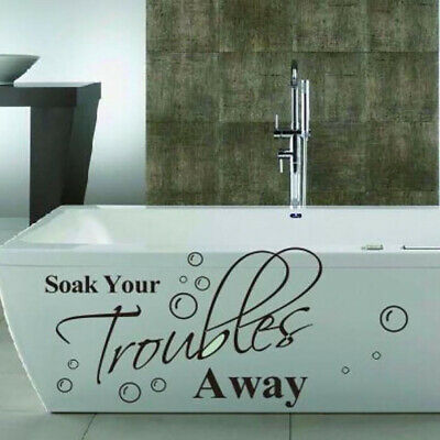 Soak Your Troubles Away Art Bath Bathroom Wall Decal Sticker Mural Splash Jian