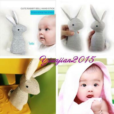 Hot Baby Boy Girl Soft Rabbit Bell Hand Stick Toy Cute Kids Bunny With Rattle J