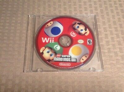 New Super Mario Bros Wii ( Tested ) Nintendo Wii 2009 Disc Only