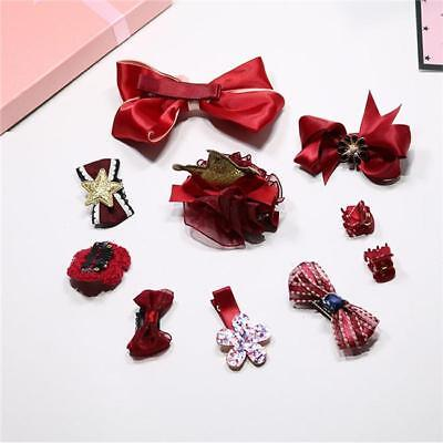 10pcs Baby Girls Toddler Bow Hair Clip Flower Hairpin Barrettes Party Headwear J