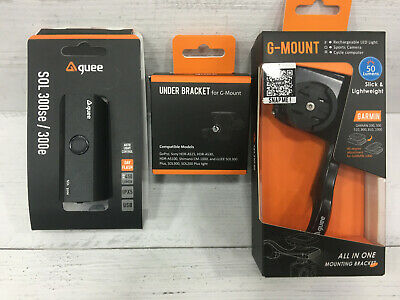 Guee Smart Mount to fix Garmin, Go-Pro and Front Light Combo