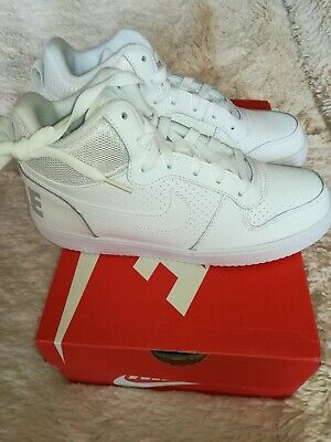 Court Borough Pointure Nike Mid Montantes Blanches Baskets Sneakers jR3L54A