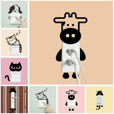 Cat Dog DIY Switch Sticker Wall Quote Wall Stickers Vinyl Mural Decor Decals New