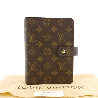 Auth LOUIS VUITTON Agenda MM Day Planner Case Monogram Canvas R20105 #f05509