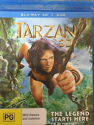 TARZAN 3D BLURAY 2012 AS NEW! *3D / 2D Bluray Disc Only - DVD Disc Not Included*