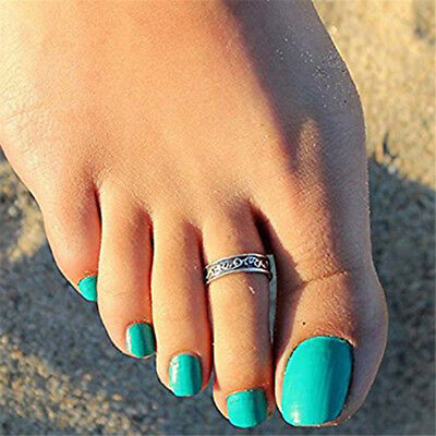 Fashion Adjustable Jewelry Retro Silver Open Toe Ring Finger Foot Rings Jian