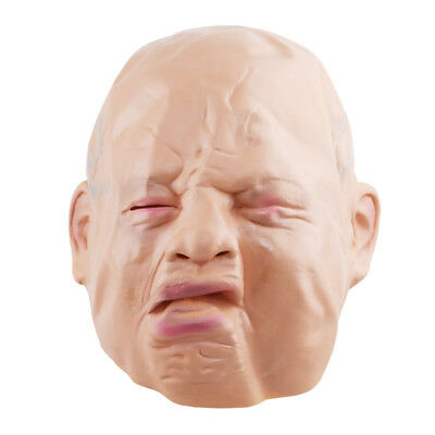 Novelty Latex Rubber Creepy Cry Face Head Mask Halloween Party Costume Prop Jian