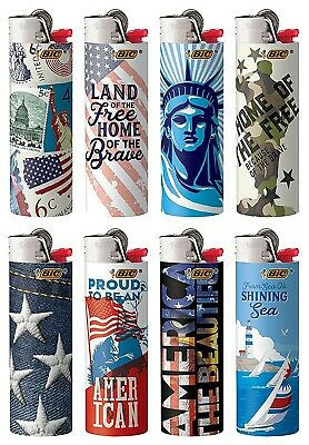 BIC Special Edition Americana Series Lighters Set of 8 Lighters New 2020 Designs