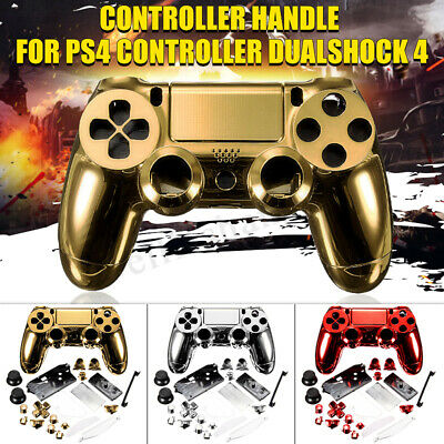 Chrome Shell Case Full Mod Kits Protection Cover for PS4 Controller  new