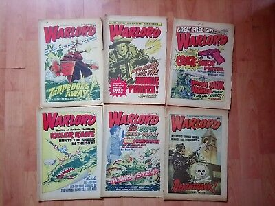 6 X Vintage Warlord comics 6 issues from 1975 To 1984 Job Lot