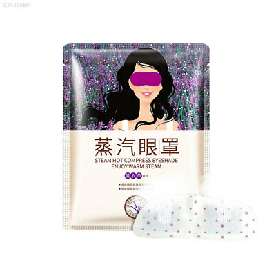 3F01 Relax Lavender Steam Eye Cover Warmer Mask Moisturize Warm Tired Eyes Patch