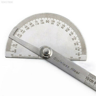 8C36 Metal 180 Degree Rotation Protractor Angle Finder Ruler 10cm Machinist