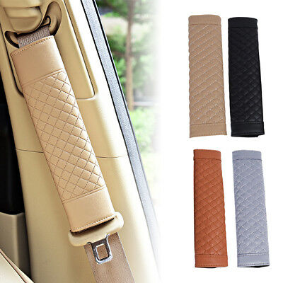 JT/_ 2Pcs Auto Car Safety Seat Belt Shoulder Pads Cover Cushion Harness Pad New