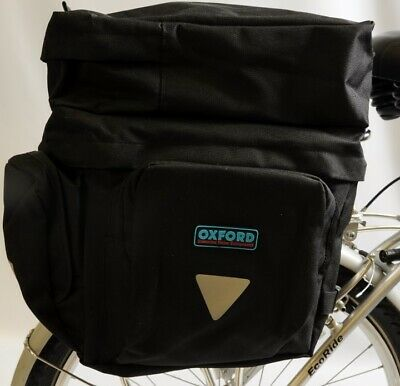 15d7d3926c8 Large Oxford Triple Bike Bicycle Pannier Luggage Bag + 2 Side Pockets  Reflective