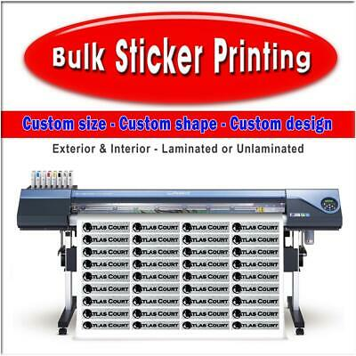 Bulk Sticker Printing Custom Logos - Custom Labels - Made to your requirements
