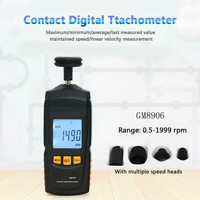 Contact Speed Digital Tachometer LCD Display Motor Gauge Meter Auto Ranging