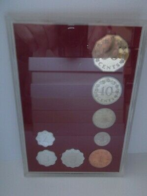 Malta: 1972 proof coin set; red card; 8 coins up to 50 Cents; FREE UK pp