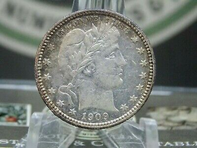 """1909 """"P"""" Barber Silver Quarter #1    East Coast Coin & Collectables, Inc."""